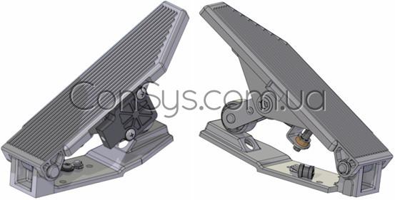 Электронная педаль напольного типа и со встроенной функцией kick-down